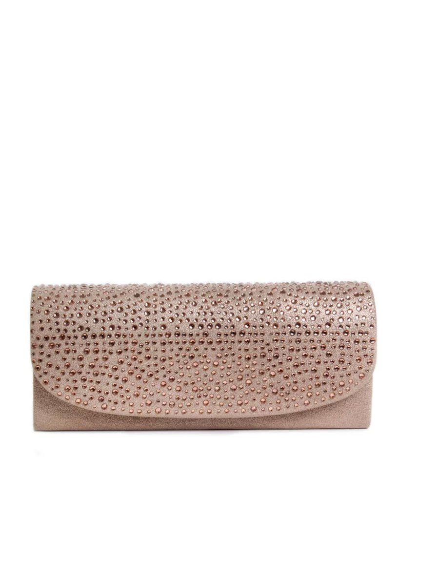 Embellished Metallic Clutch Bag