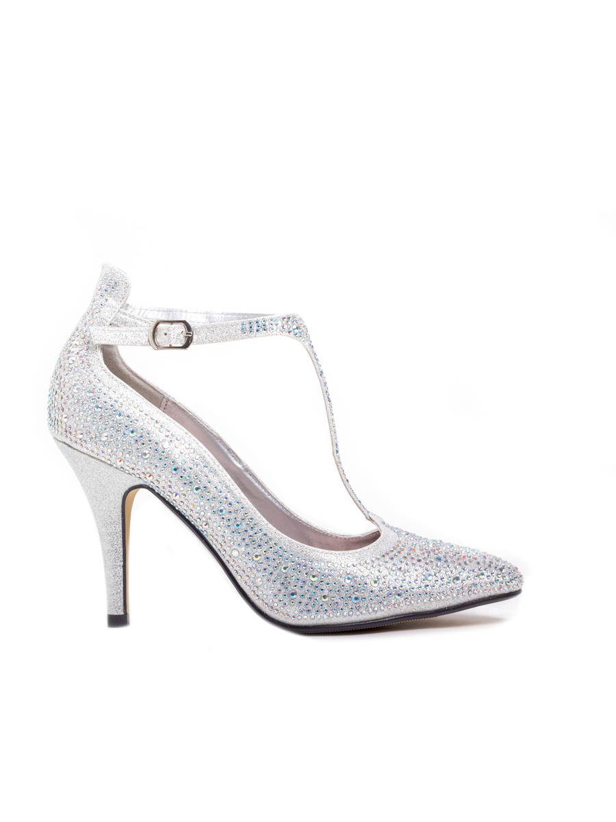 LADY COUTURE - Embellished T-Strap Pointed Toe Pump