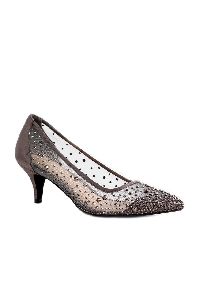 Lady Couture - Embellished Mesh Low-Heel Pump