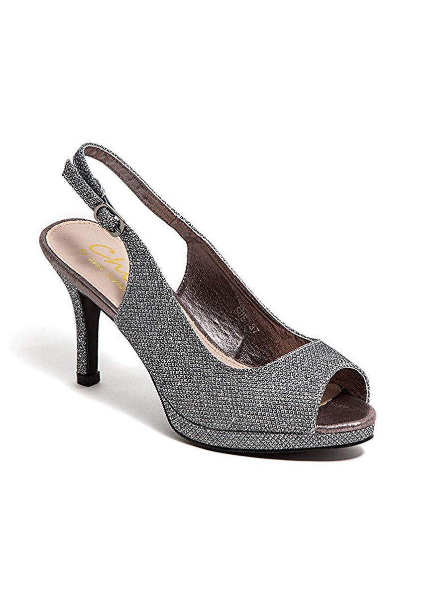 Lady Couture - High Heel Glitter Sling Back Peep Toe