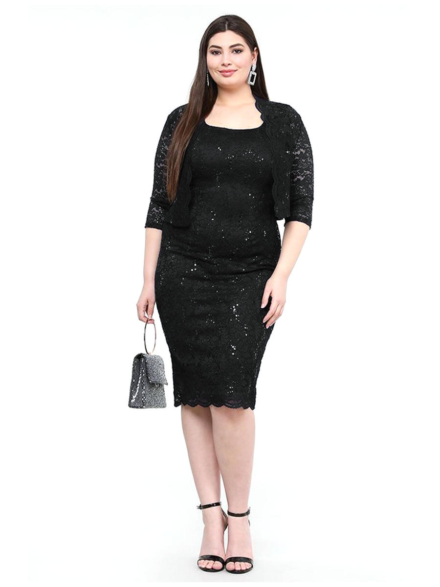 La Scala - 2 Piece Metallic  Lace Dress/Jacket