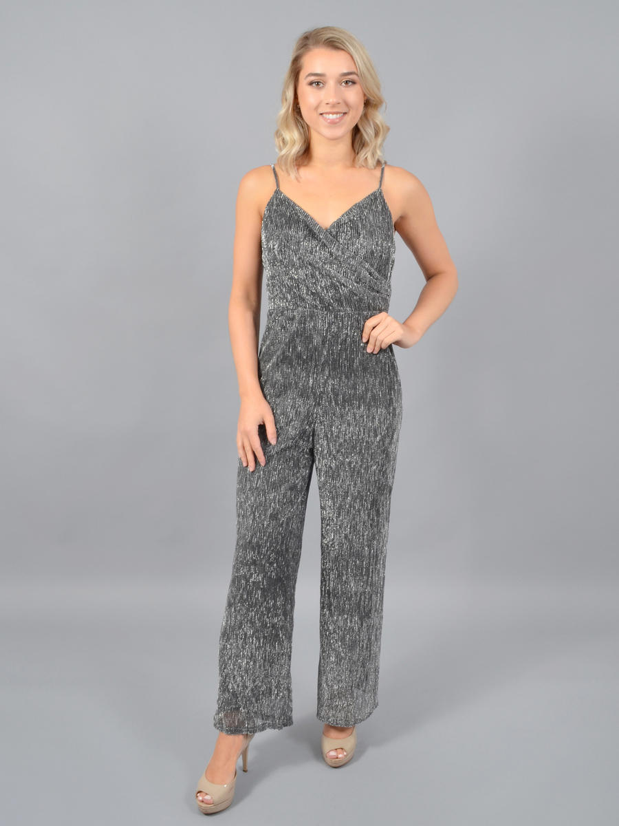 Lush - Metallic Pleat Jumpsuit