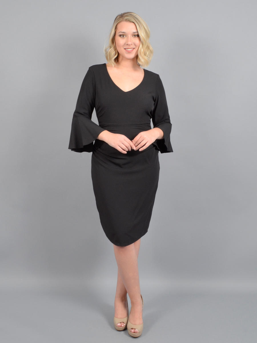 MARINA B - Long Sleeve Dress