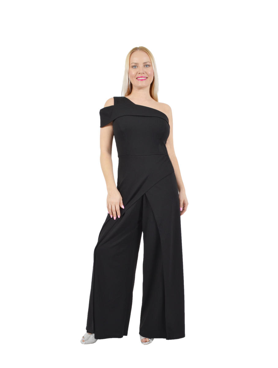 One Shoulder Flyaway Jumpsuit