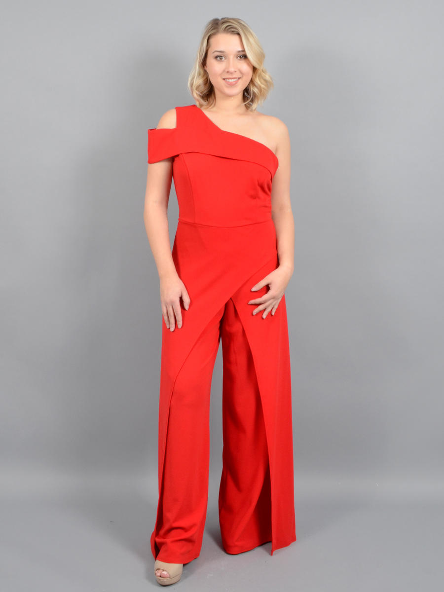 MARINA B - One Shoulder Flyaway Jumpsuit
