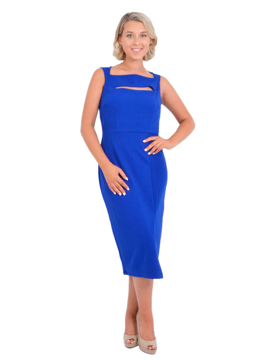 MARINA B - Satin Sheath Dress Tank