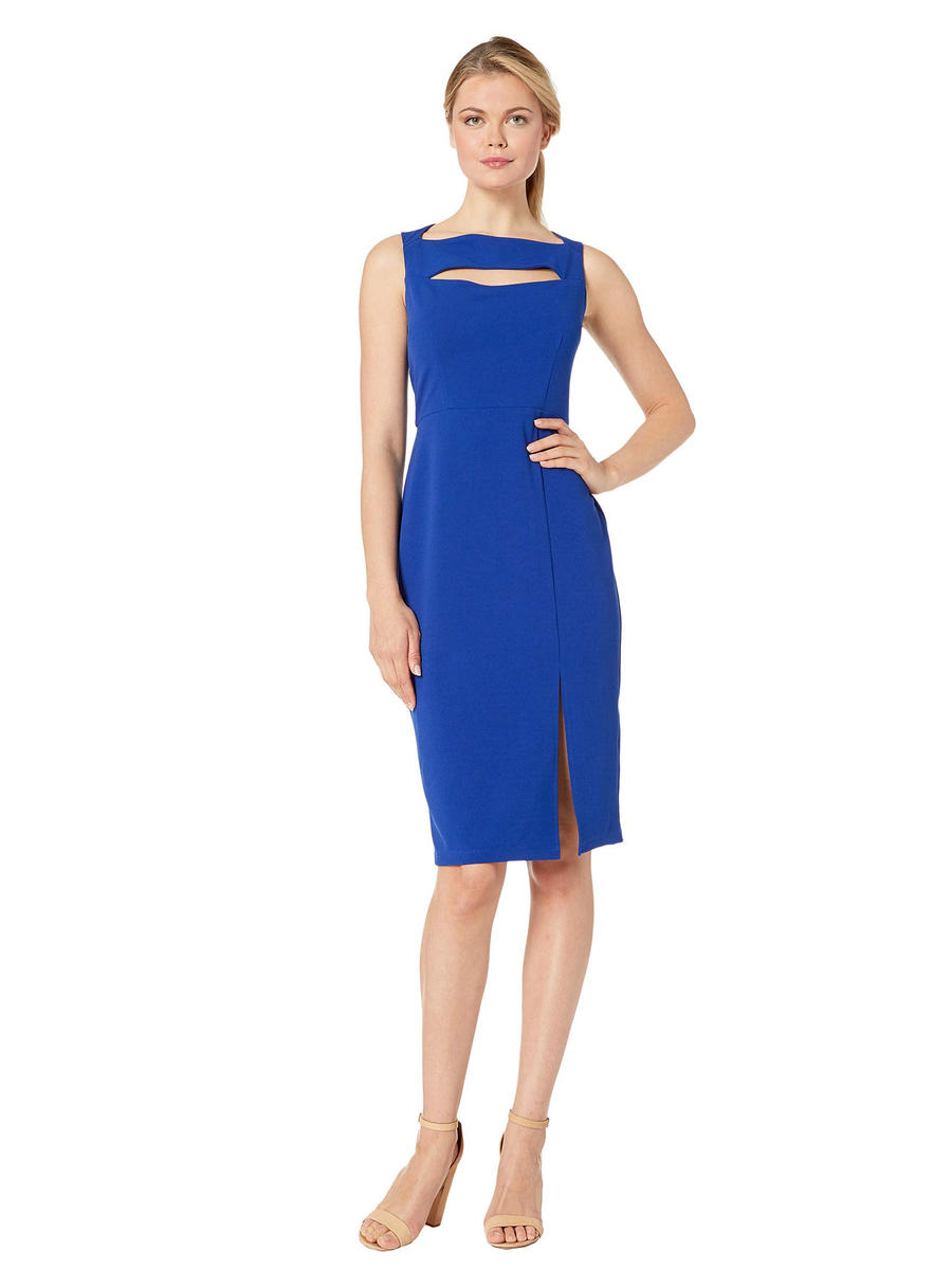 MARINA - Satin Sheath Dress Tank