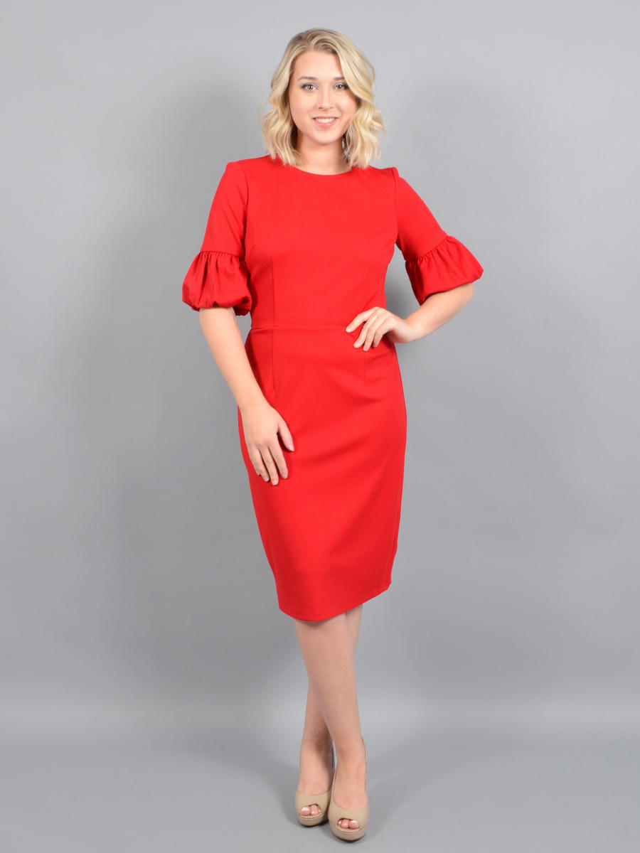 MARINA B - Satin Long Sleeve Dress