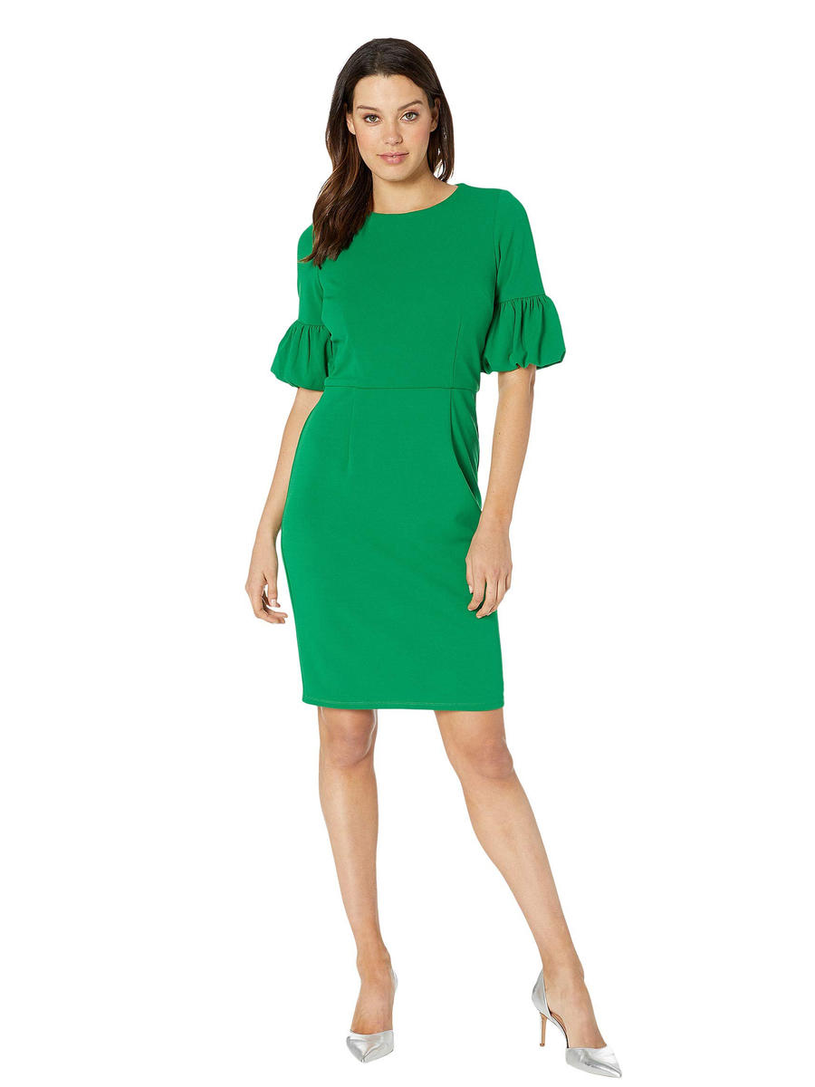 MARINA - Satin Long Sleeve Dress