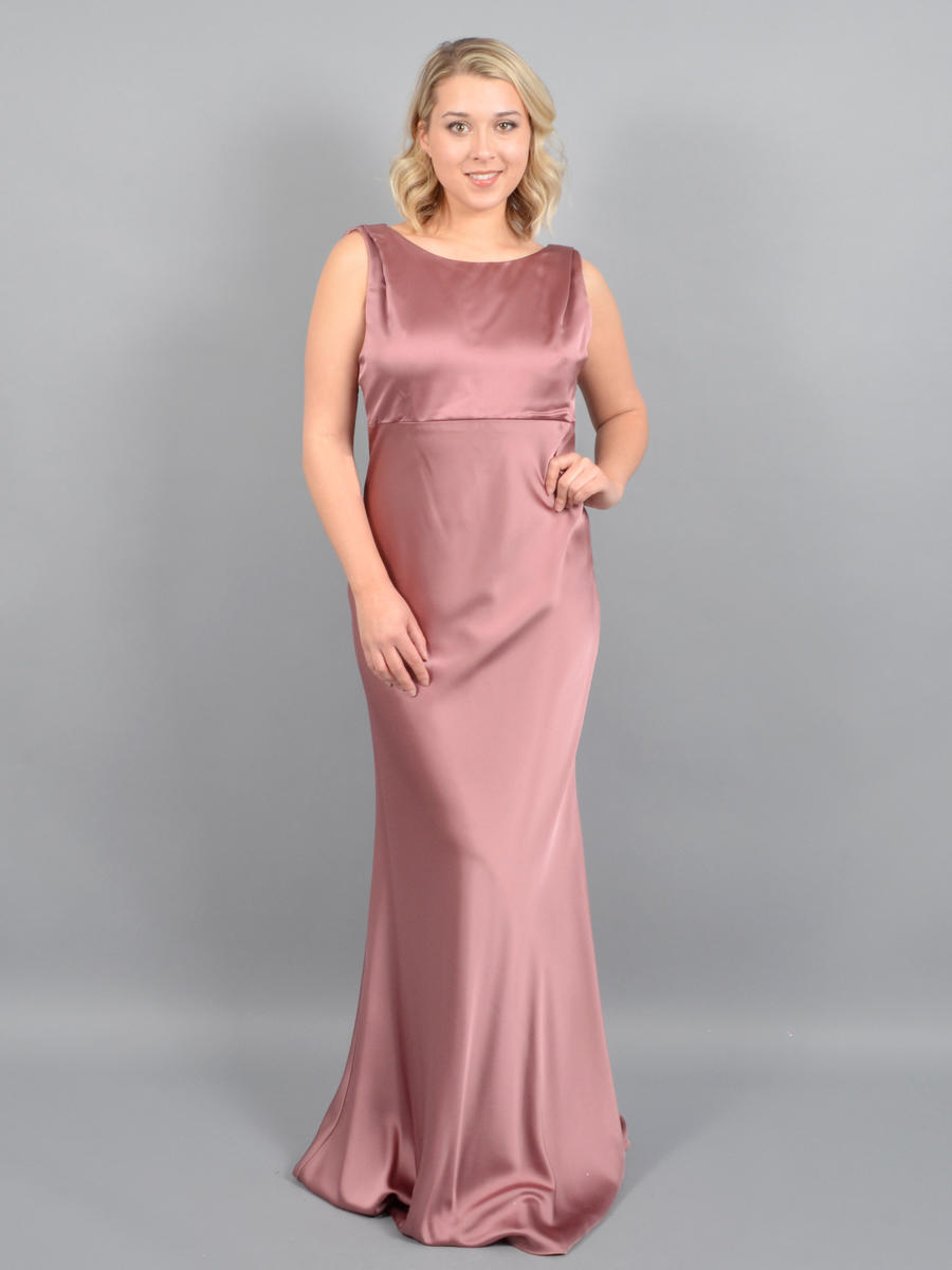MARINA B - Satin Draped Gown
