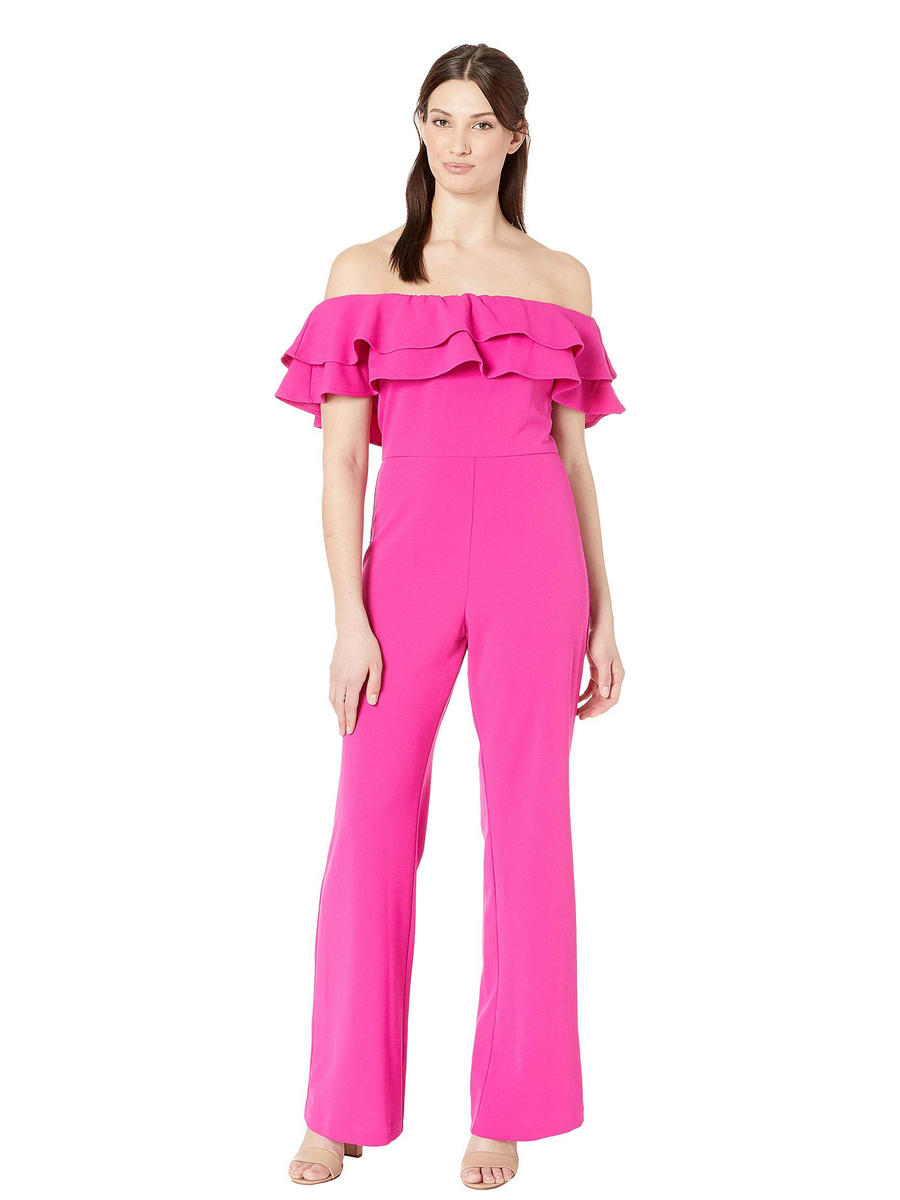 MARINA B - Jersey Off the Shoulder Jumpsuit