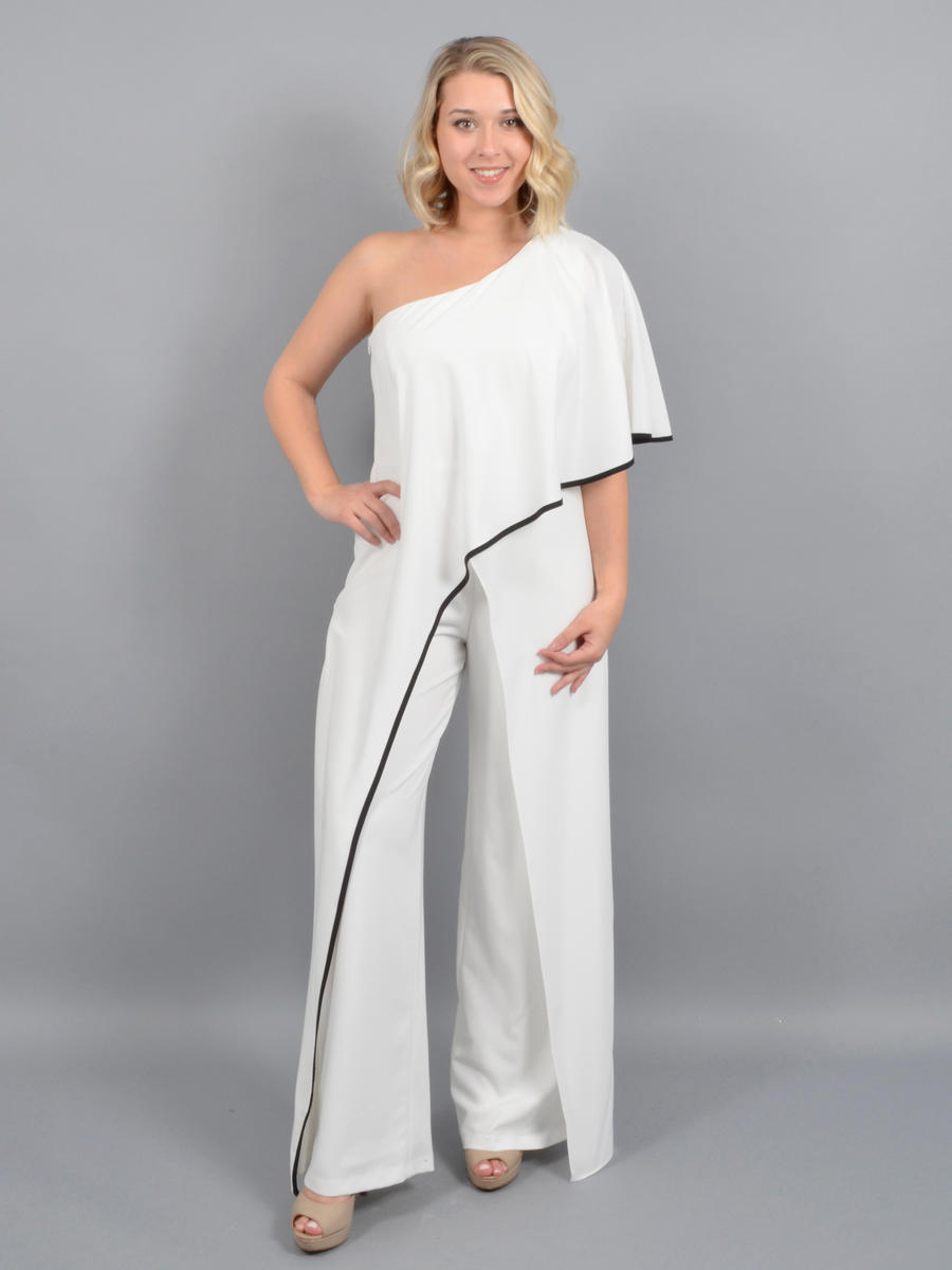 MARINA B - Satin One Shoulder Jumpsuit