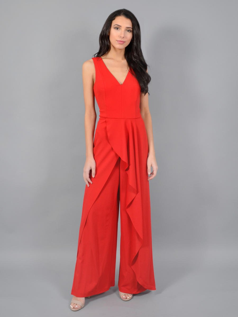 MARINA - Jumpsuit With Ruffle Hem