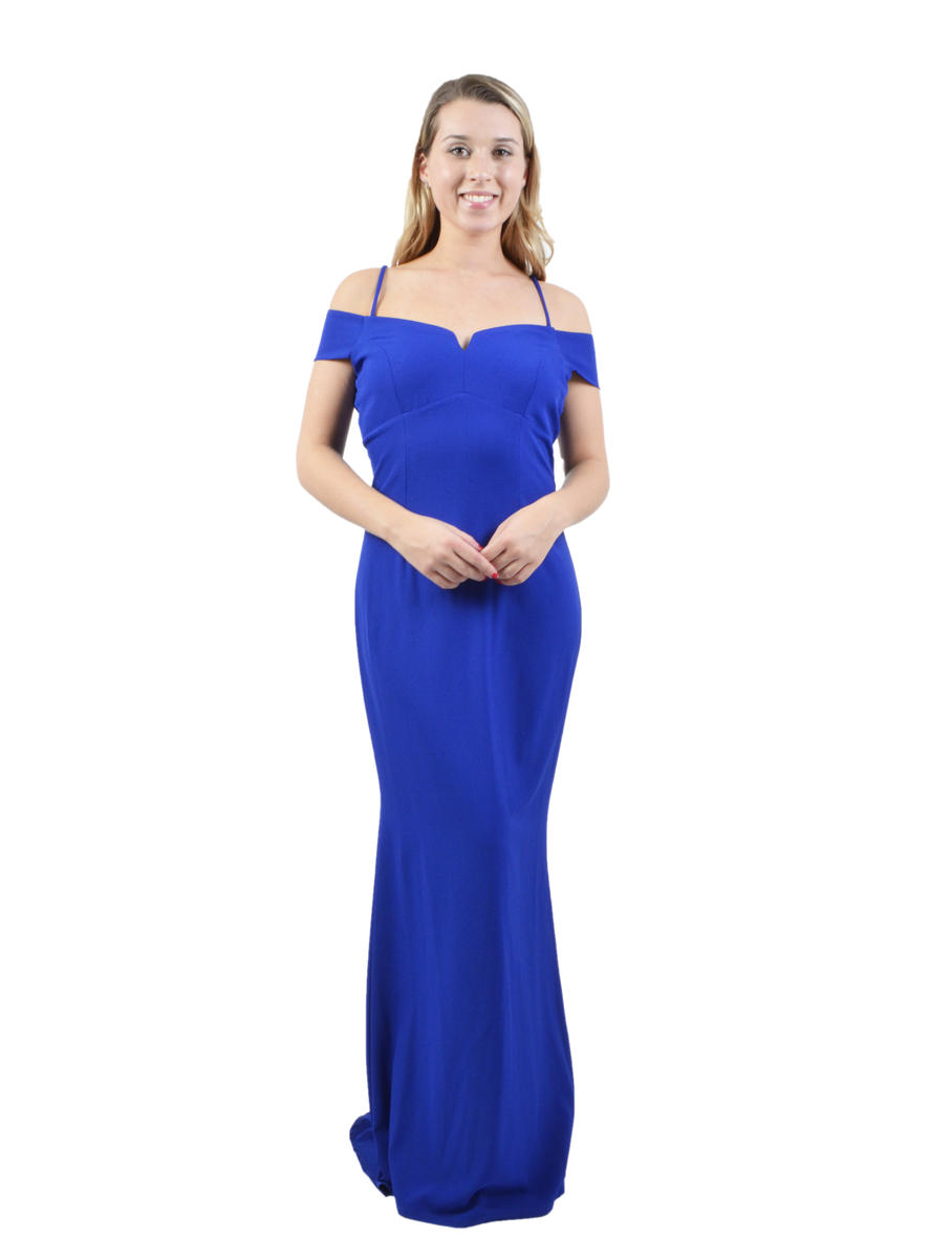 Satin Off Shoulder Gown