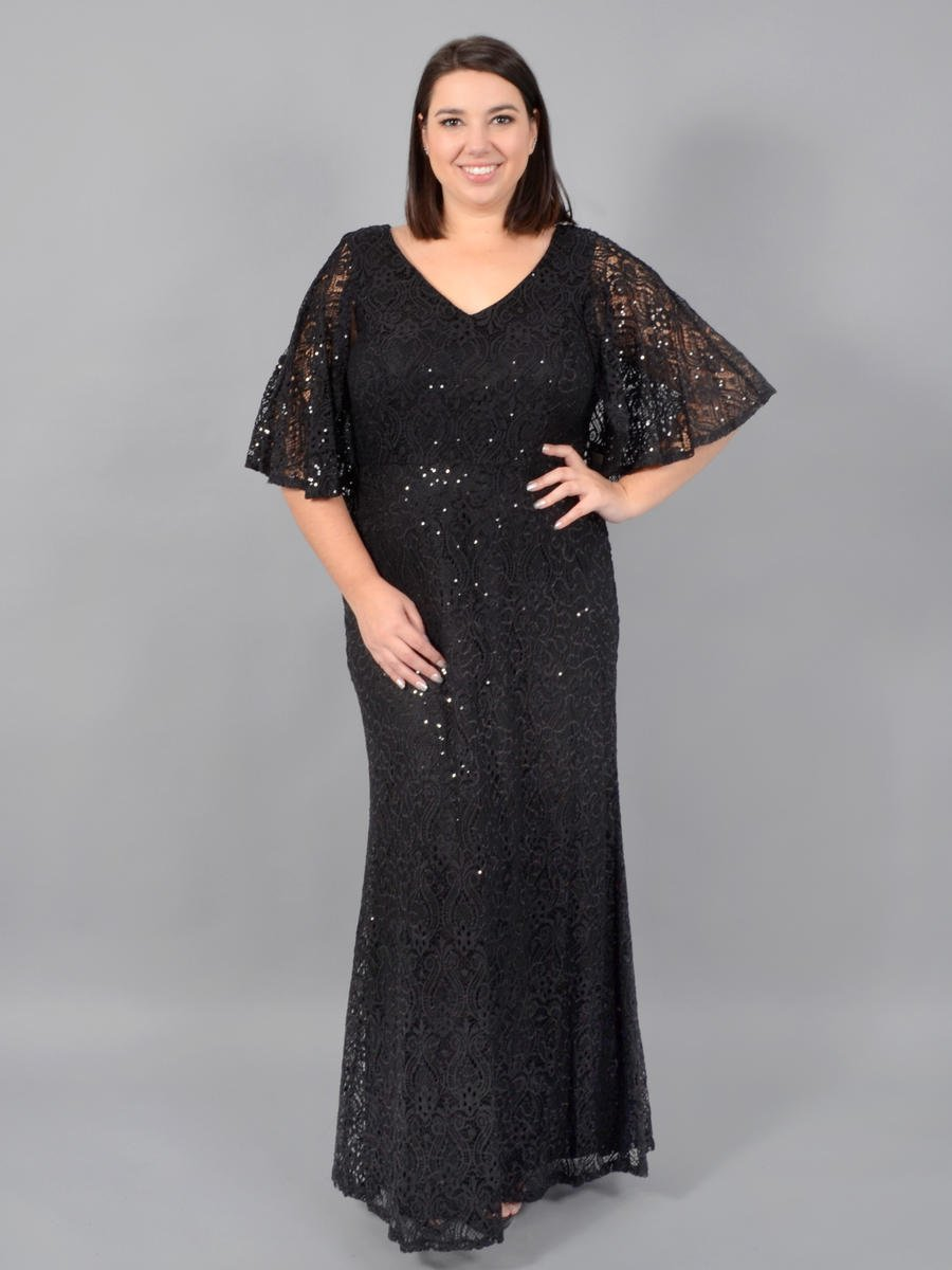 MARINA - Metallic Lace Gown-Back Cape