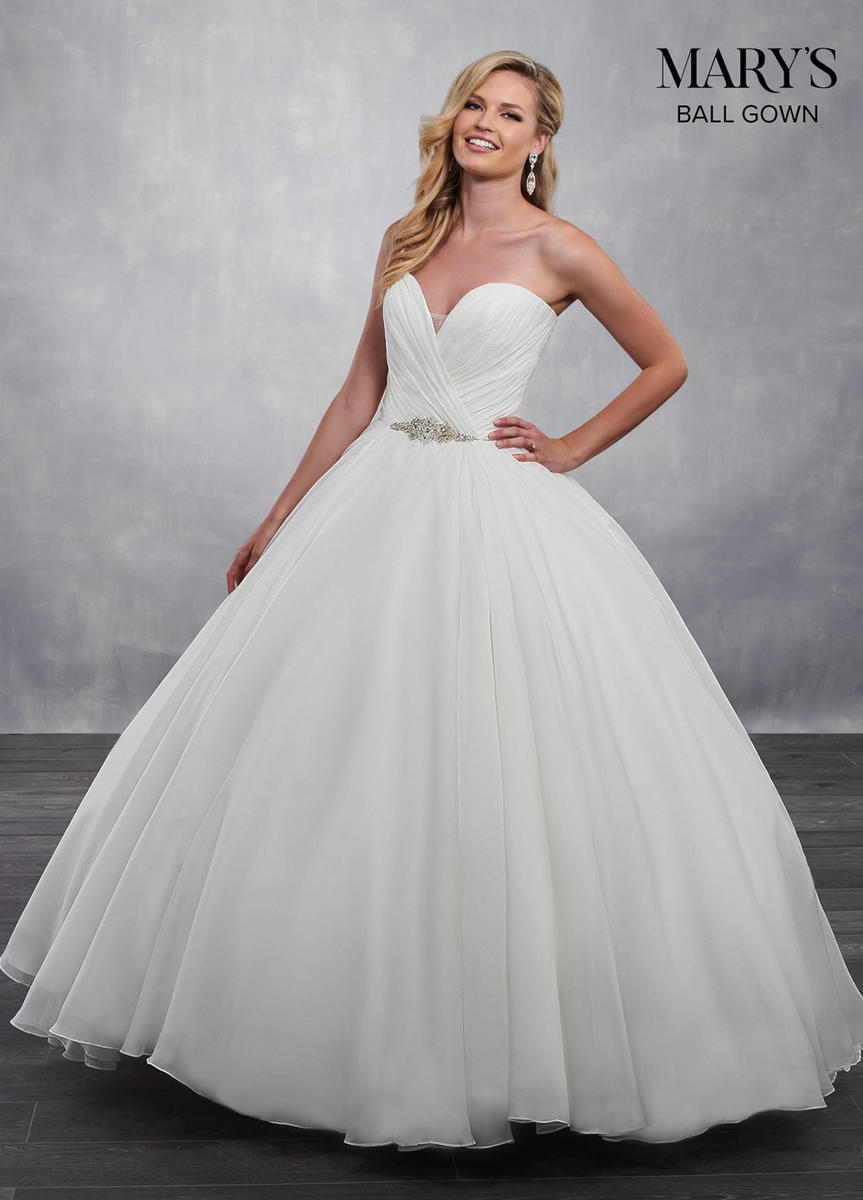 Marys Bridal - Sweetheart Strapless Beaded Waist Ball Gown