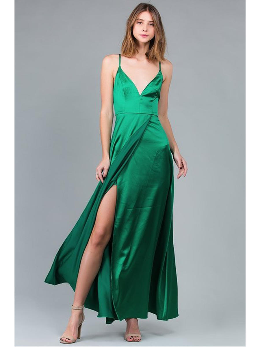 MINUET - Satin High Low Gown