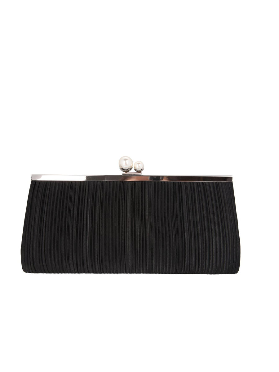 NINA FOOTWEAR - Long Pleated Satin Clutch