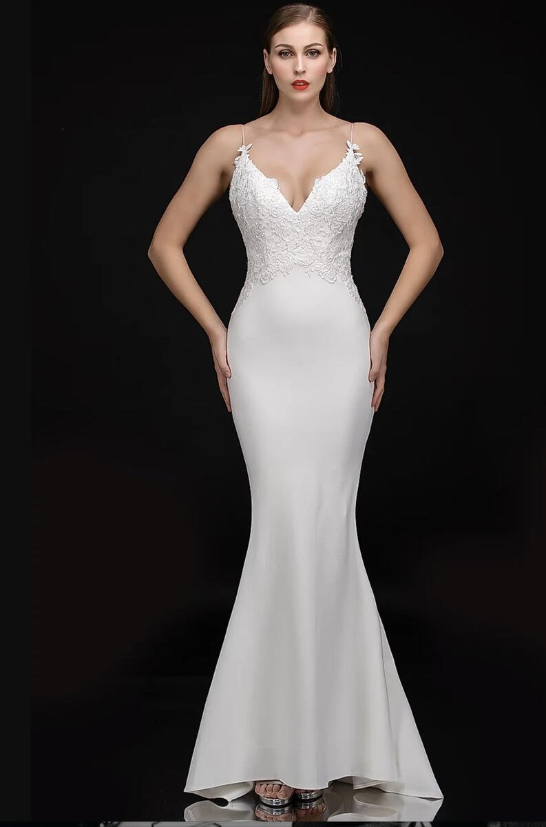 Nina Cannacci - Jersey Embroidered Bodice Gown