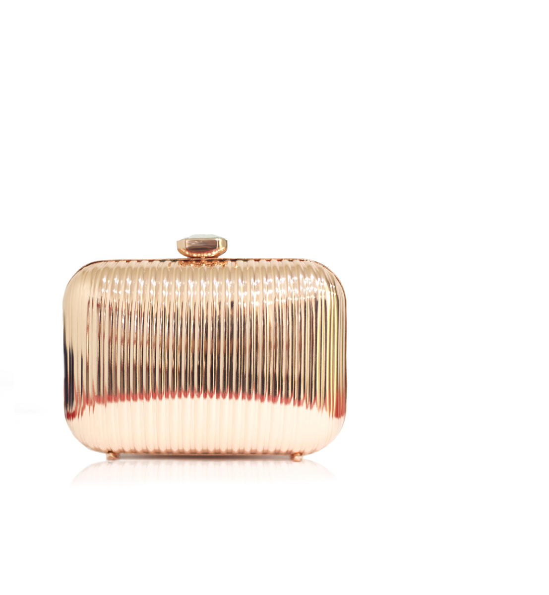Metallic Hard Case Clutch