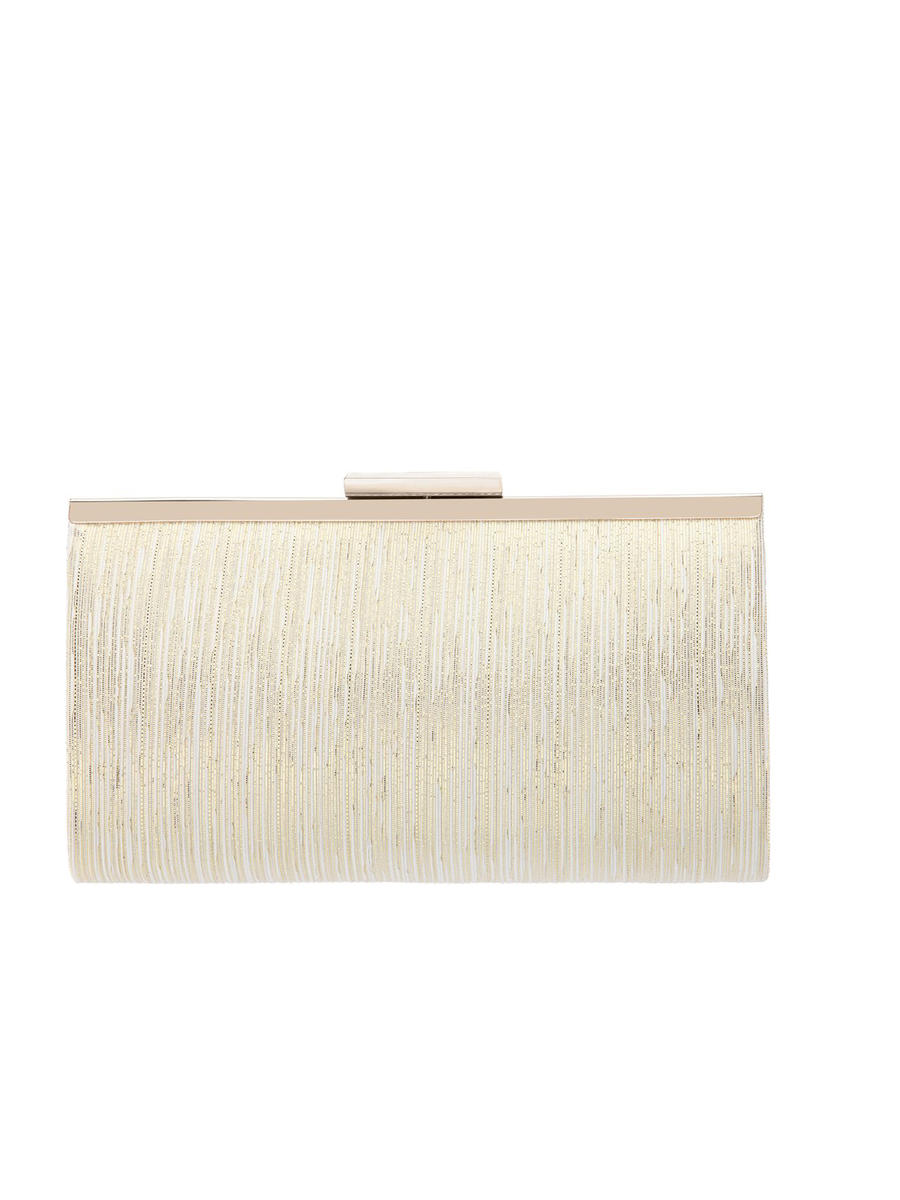 NINA FOOTWEAR CORP - Metallic Patterned Frame Clutch
