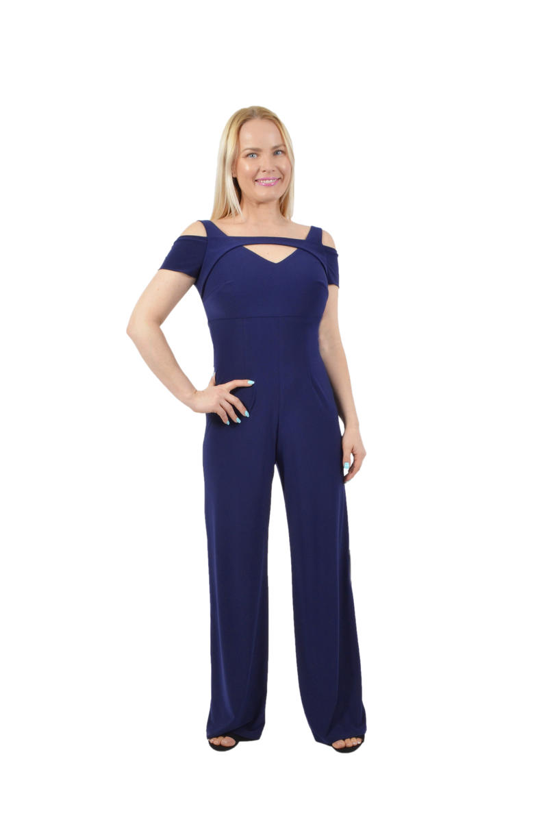 NIGHTWAY - Jersey Off-The-Shoulder Jumpsuit
