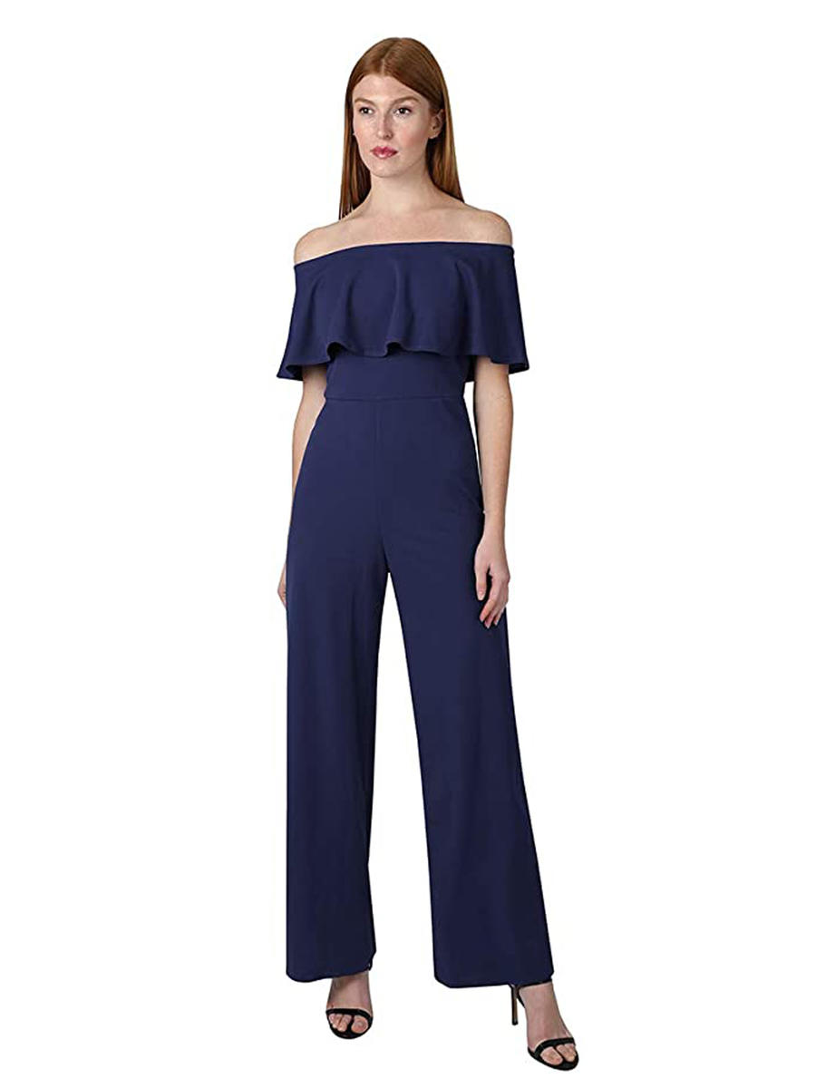 ONYX NITE - Off Shoulder Jumpsuit-Draped Bodice
