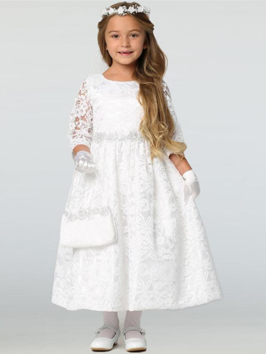 SWEA PEA AND LILLI - Lace Dress With Silver Floral Trim
