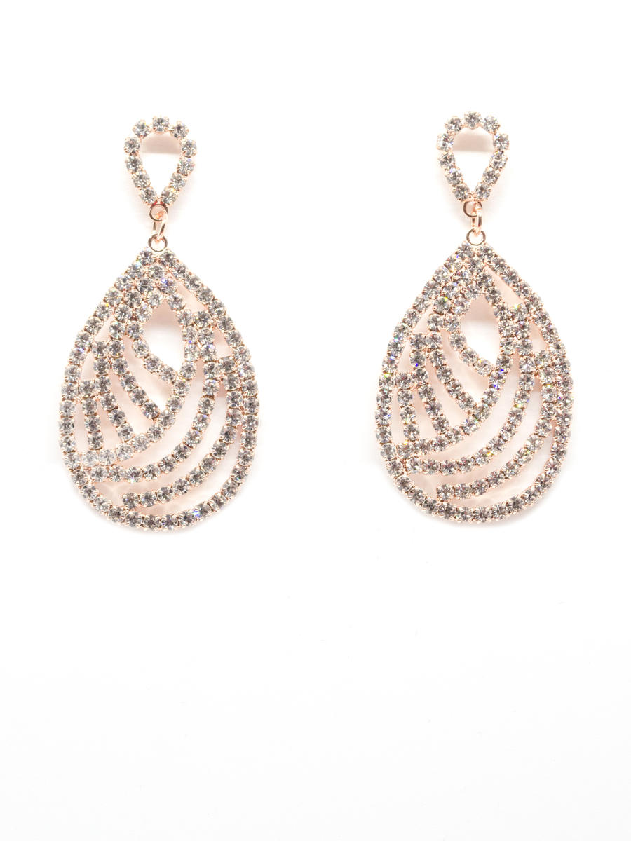 PIN &TUBE - Rhinestone Drop Earring