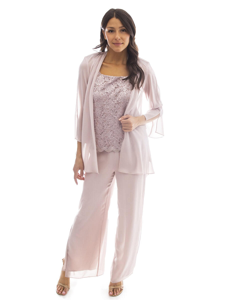 R & M Richards - Three Piece Chiffon Pant with Jacket