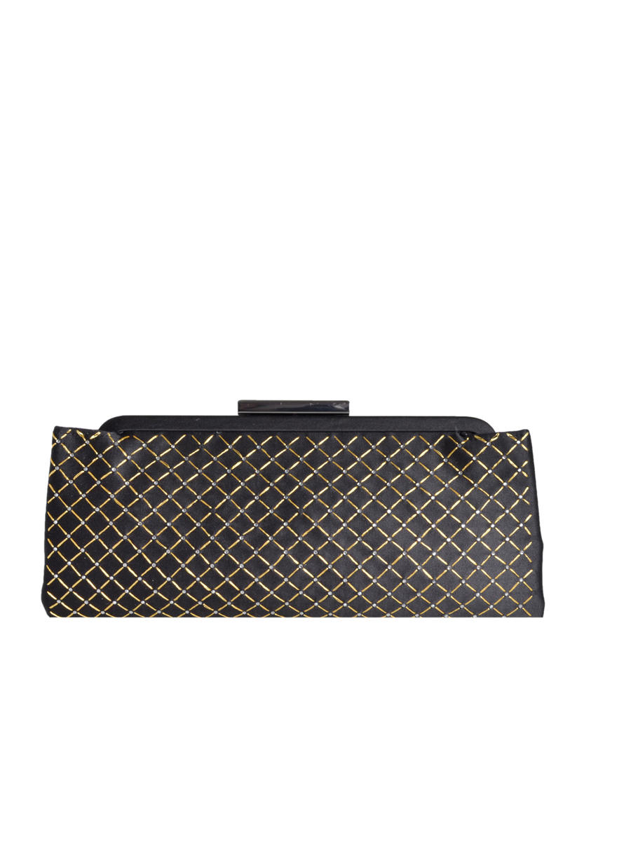 PAN OCEANIC EYEWARE / REGAL - Beaded Quilt Snap Lock Clutch