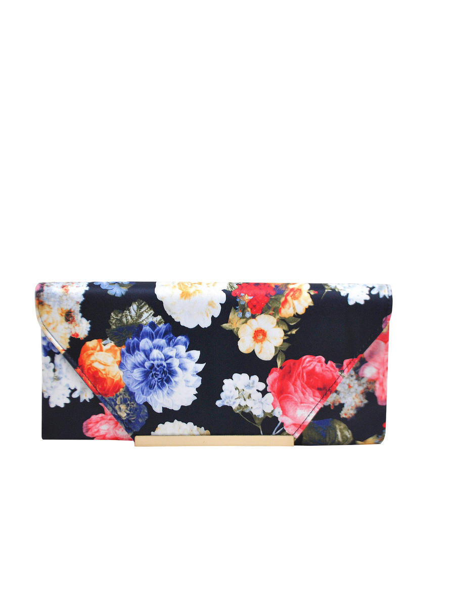 PAN OCEANIC EYEWARE / REGAL - Floral Printed Satin Clutch