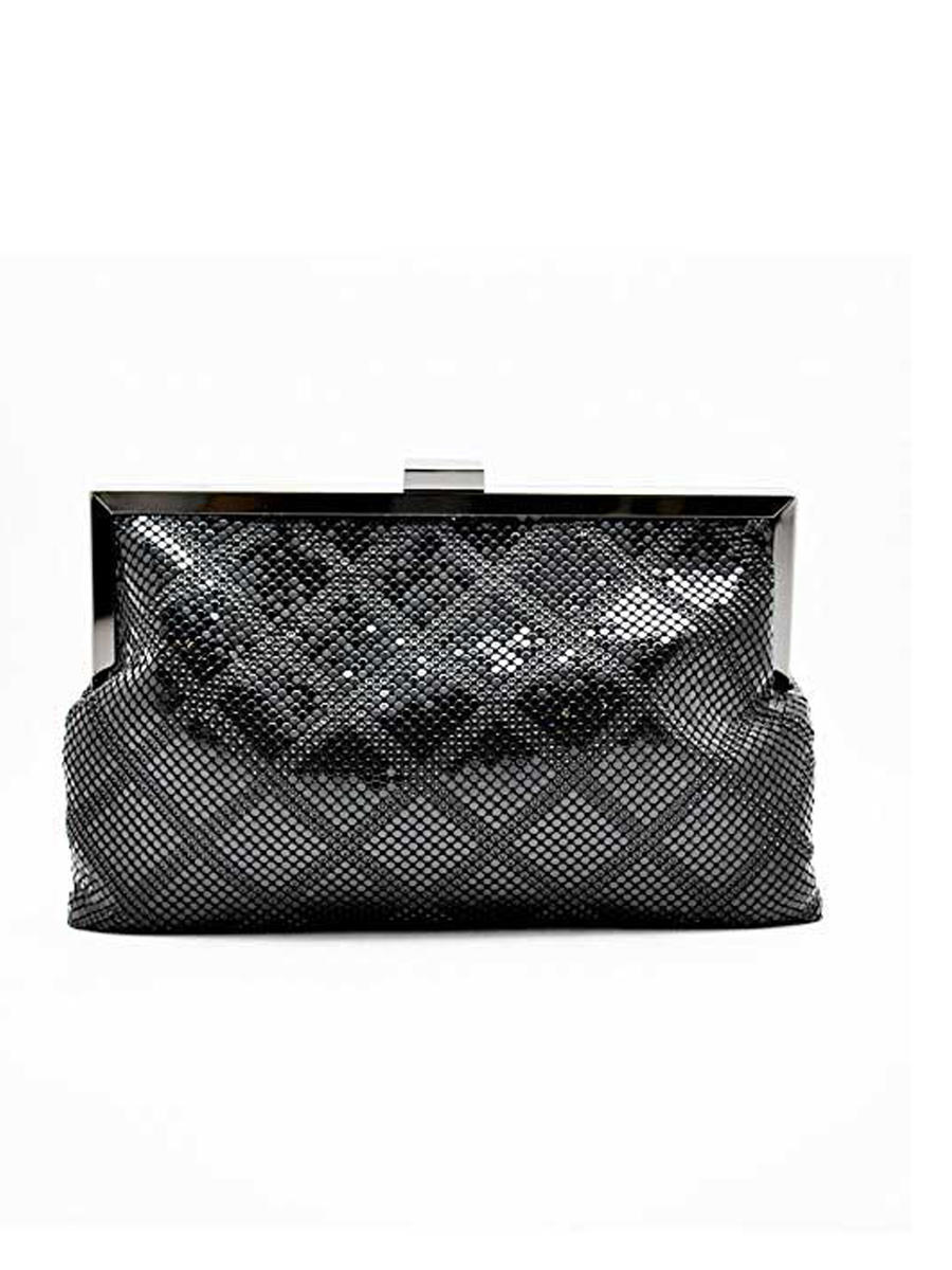 Diamond Pattern Mesh Pouch