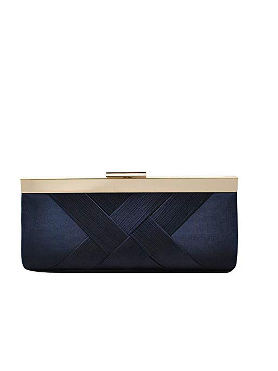 PAN OCEANIC EYEWARE / REGAL - Satin Criss Cross Clutch