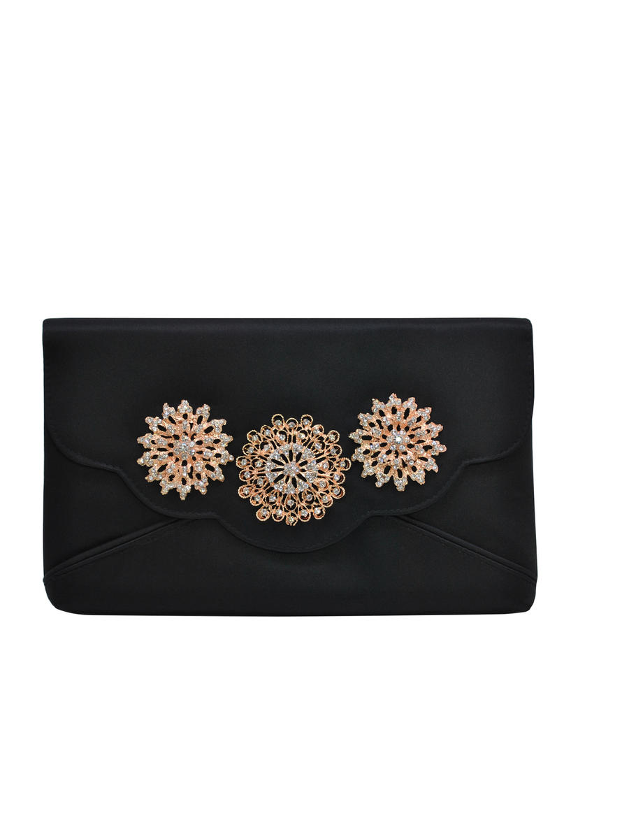 PAN OCEANIC EYEWARE / REGAL - Floral Brooch Envelope Clutch