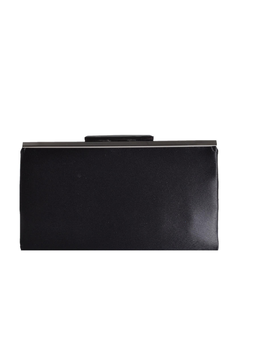 Satin Top Frame Clutch