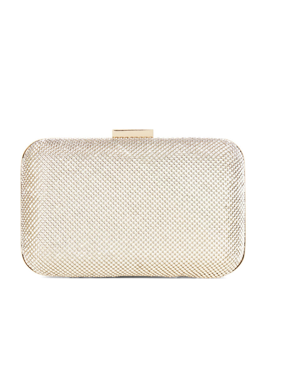 PAN OCEANIC EYEWARE / REGAL - Pyramid Mesh Minaudiere Clutch