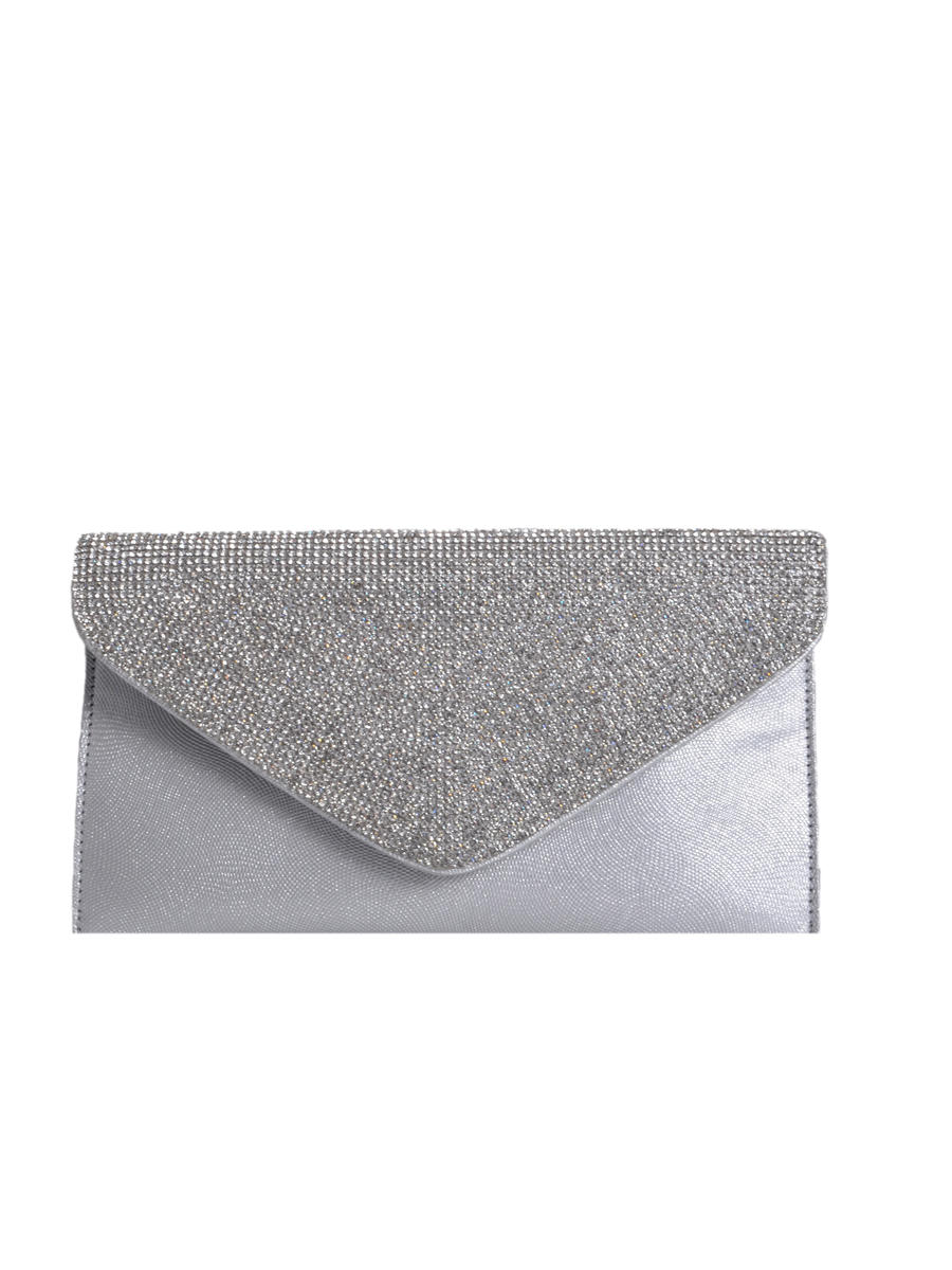 PAN OCEANIC EYEWARE / REGAL - Rhinestone Flap Envelope Clutch