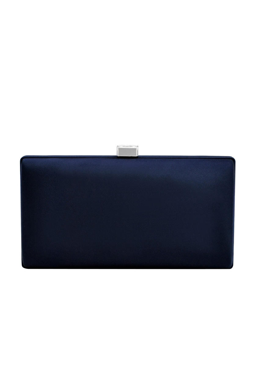 PAN OCEANIC EYEWARE / REGAL - Large Satin Minaudiere Evening Bag