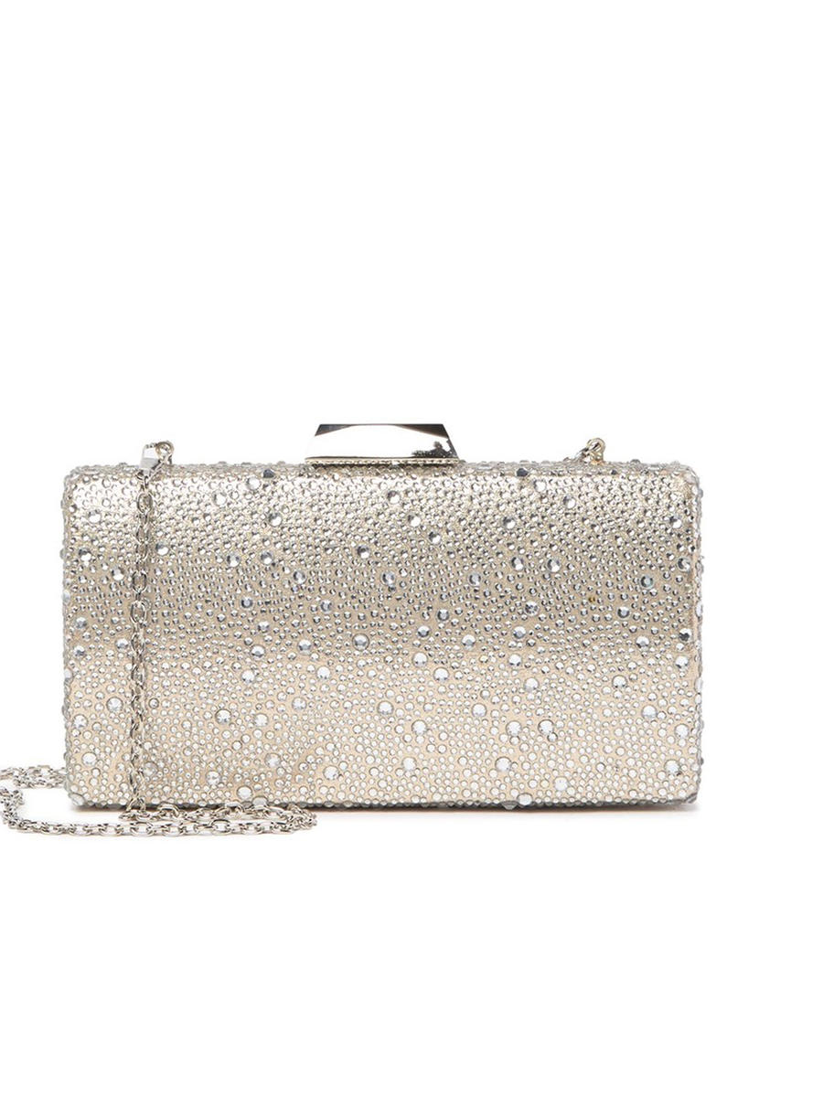 PAN OCEANIC EYEWARE / REGAL - Rhinestone Snap Lock Clutch