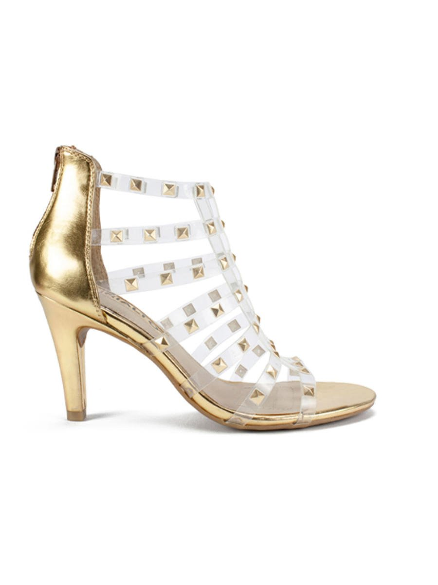 RIALTO SHOES - High Heel Clear Strap Bootie