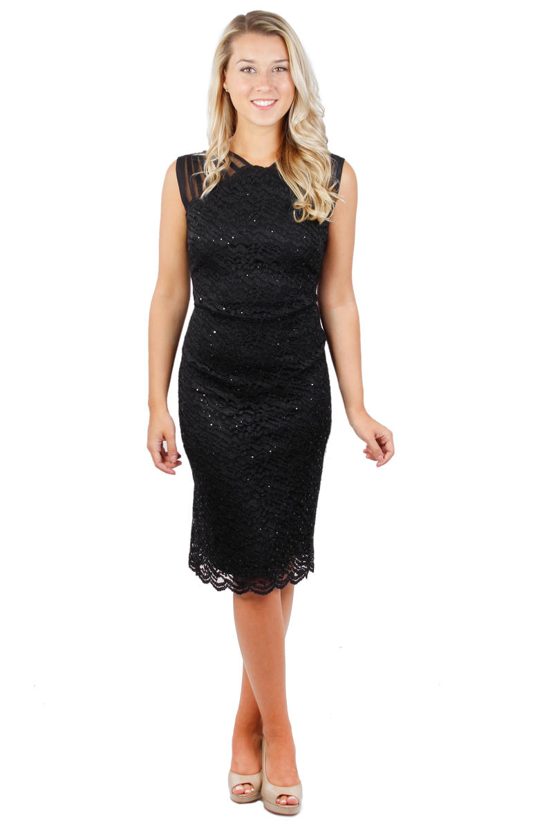 R & M Richards - Lace Metallic Dress