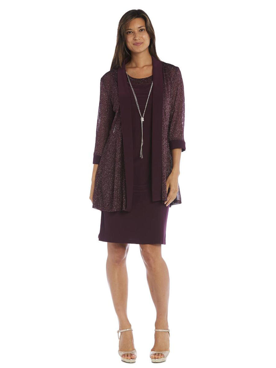 R & M Richards - Petite Necklace Jersey Dress