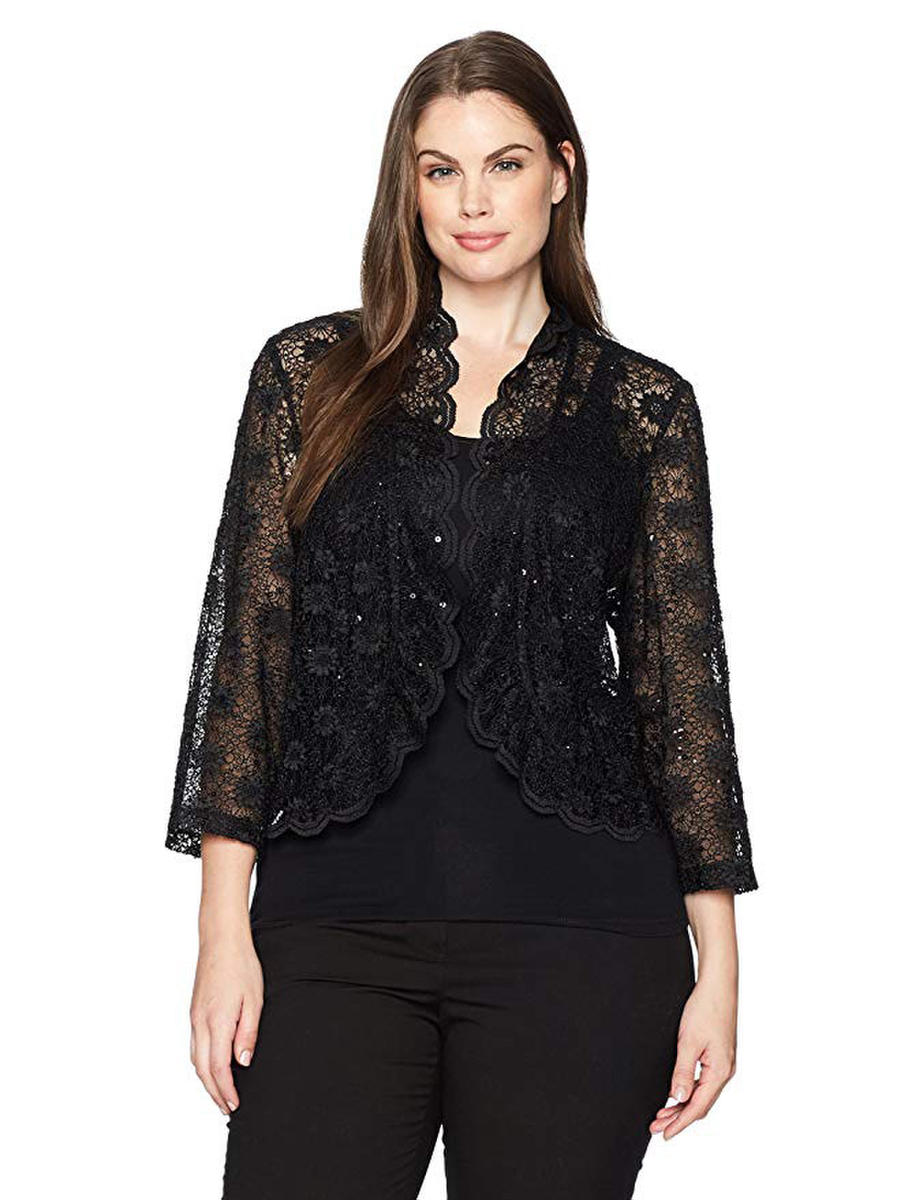 R & M Richards - 3/4 Sleeve Lace Jacket