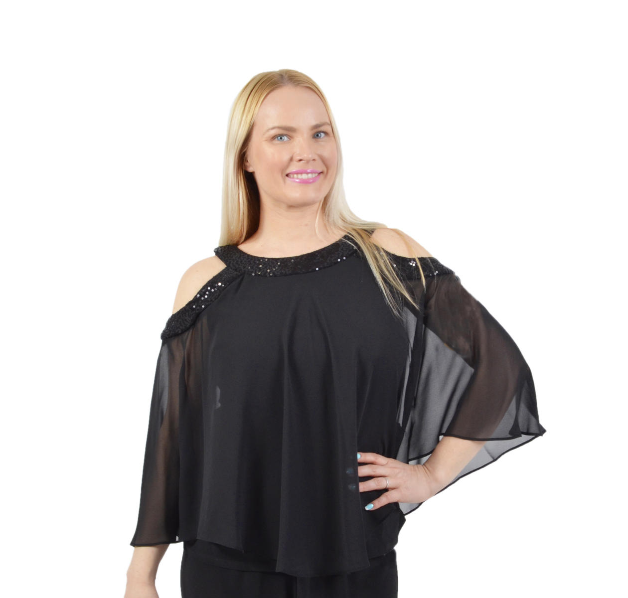 R & M Richards - Cold Shoulder Blouse