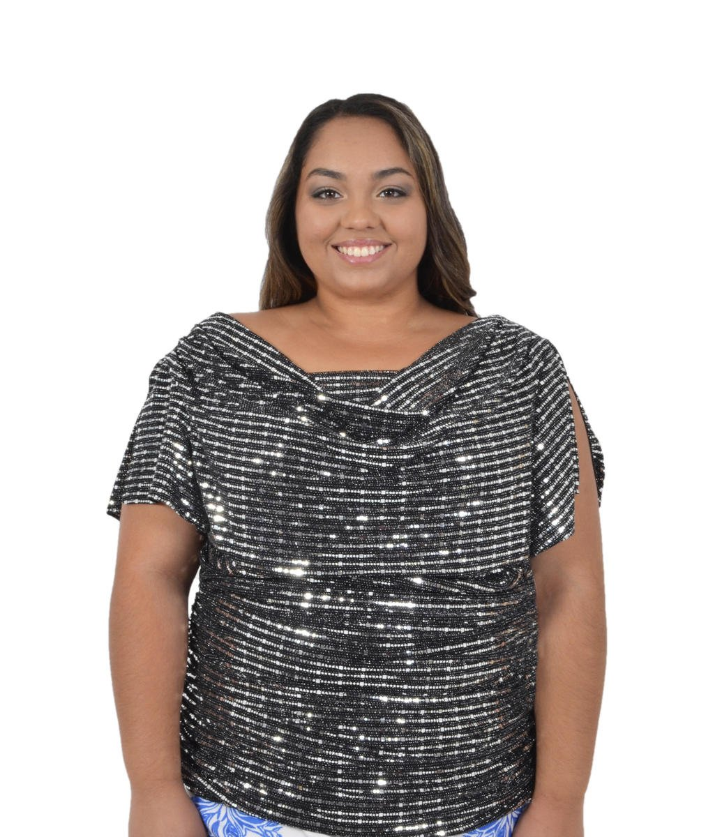 Jersey Metallic Top Short Sleeve