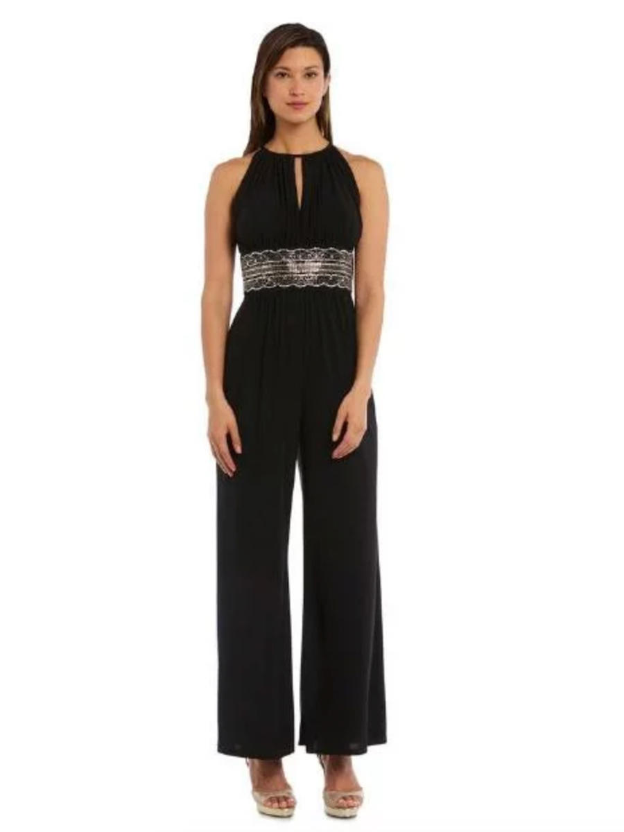 R & M Richards - Halter Neck Jersey Jumpsuit