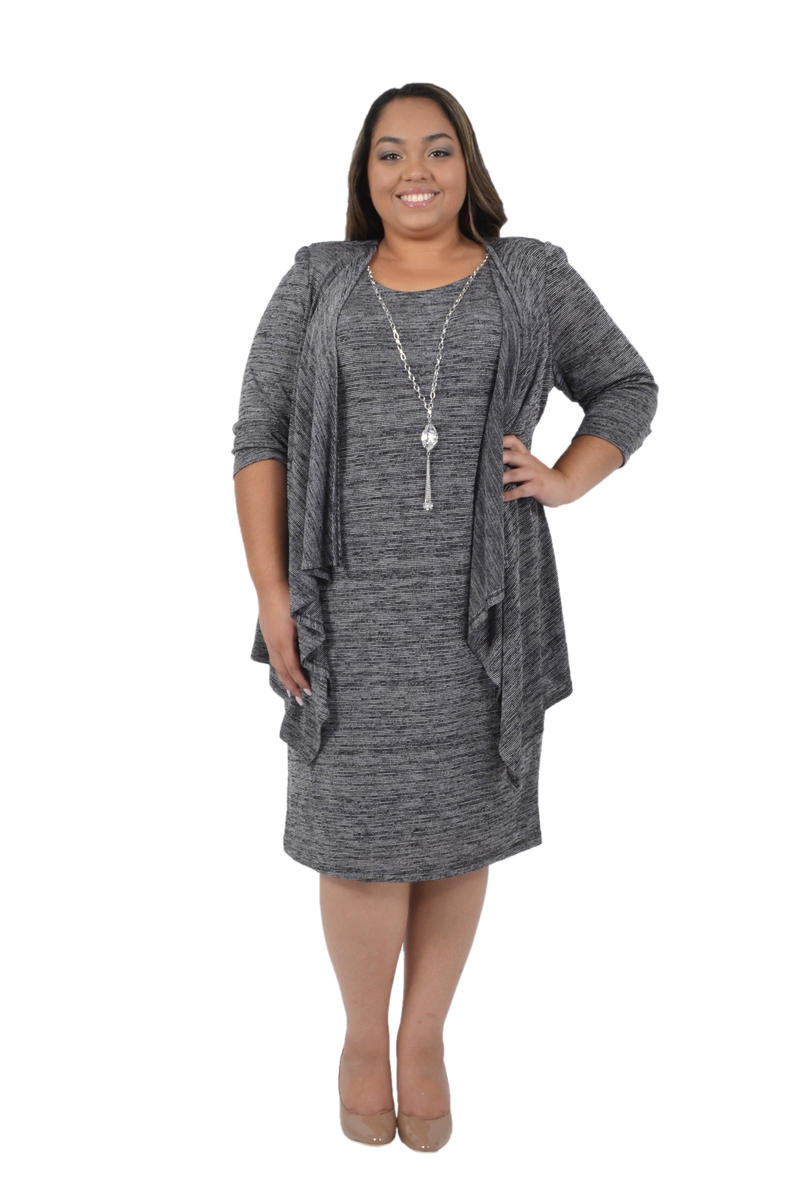 Jersey Dress Long Sleeve Jacket