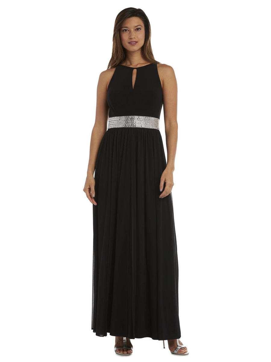 R & M Richards - Jersey Beaded Waist Gown