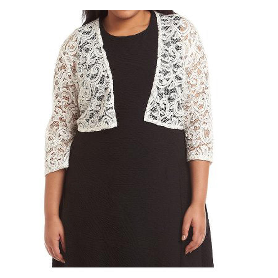 R & M Richards - Plus Size Lace Sequin Bolero